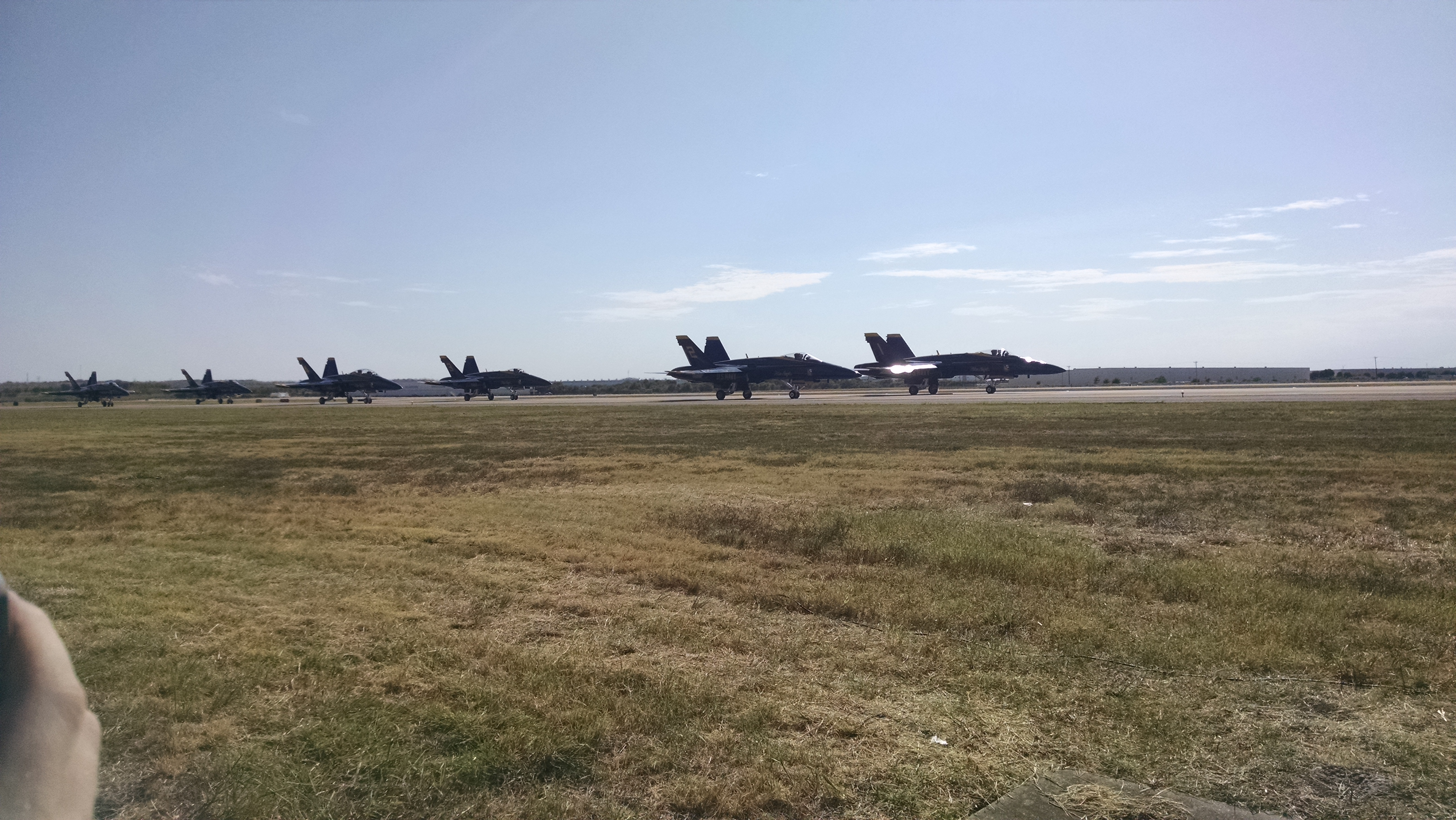 Blue Angles F-18s taxiing